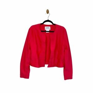 CHANEL Identification c.2000 Red Quilted Jacket 44
